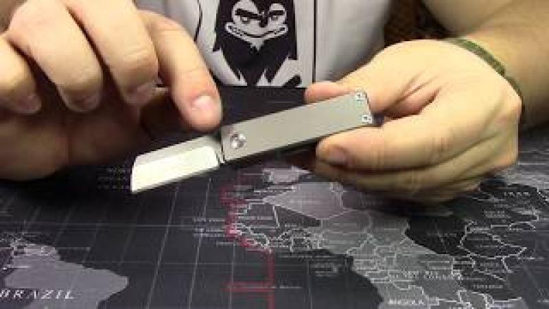 Обзор титановый брелок нож от FURA