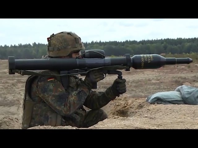 The Powerful German Panzerfaust 3 Anti-Tank Weapon In Action
