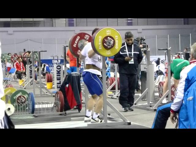 Almaty 2014 Training Hall Artem Okulov squats 200 kg