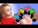 Песенки для детей - Едет трактор - мультик про машинки- Синий трактор поет песенку про пальчики