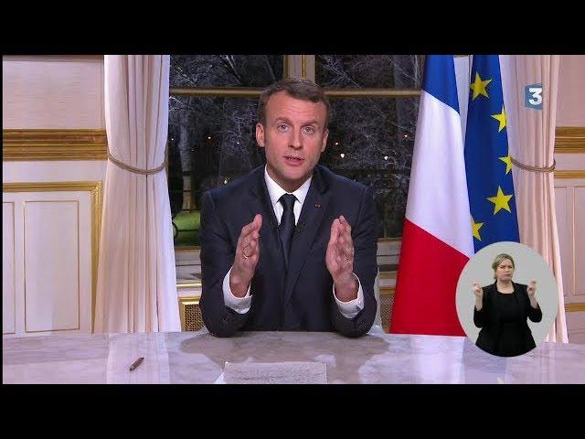Vœux 2018 d'Emmanuel Macron / 31 décembre 2017