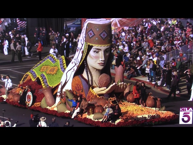 American Armenian Rose Float 2018 Pasadena, California. Winner of Judges Trophy