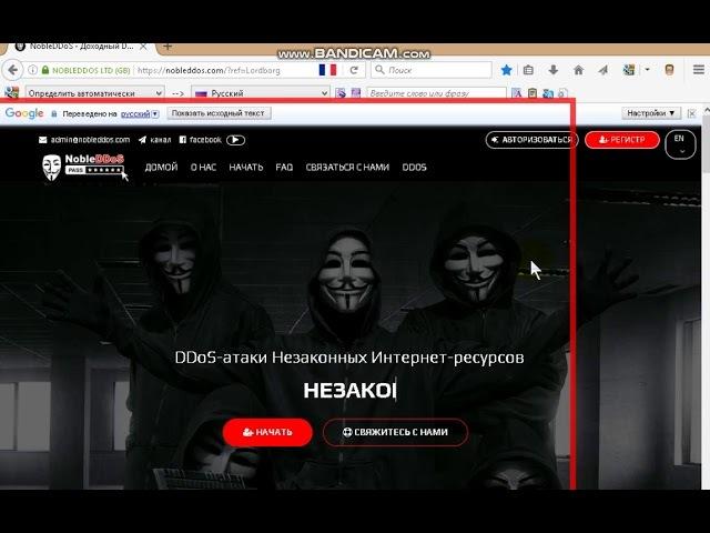 ОБЗОР NOBLEDDOS.COM - ПОДАРИЛ ДУДОСЕРАМ 100$
