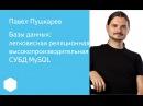 016 Базы данных легковесная реляционная высокопроизводительная СУБД MySQL Павел Пушкарев