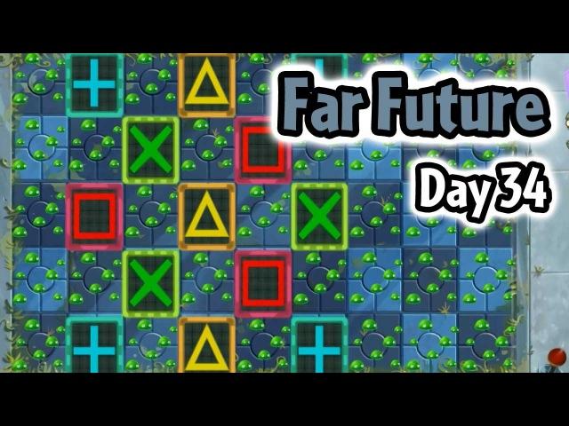 Plants vs Zombies 2 - Far Future Day 34: Tic Tac Toe | Caulipower Epic Quest Step 9