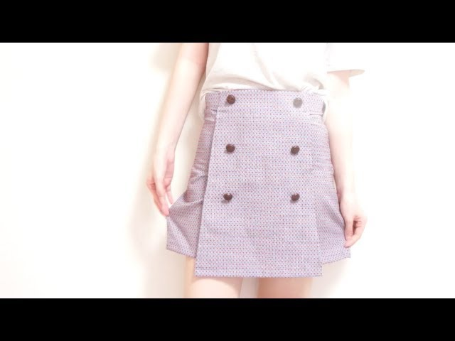DIY ✂️ Vintage High Waisted Skirt Shorts / Skortㅣmadebyaya