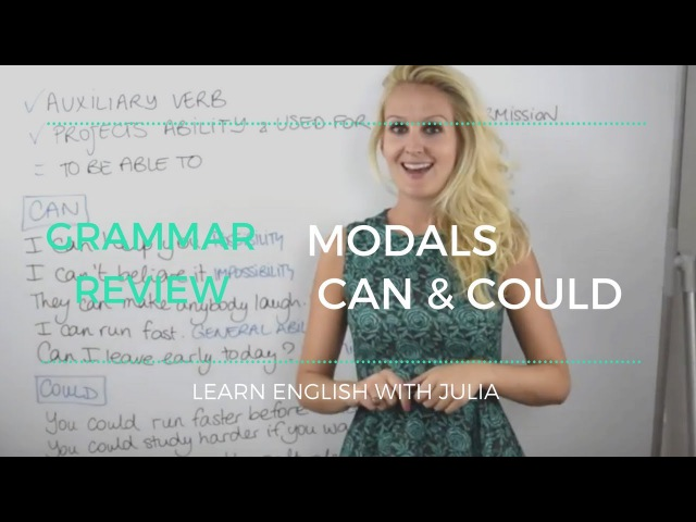 Modals Can Could - Learn English with Julia