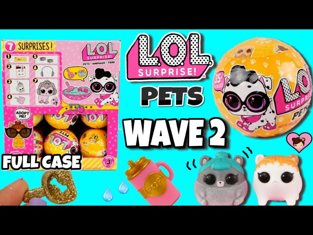 NEW LOL Surprise Pets Wave 2 FULL CASE Opening - L.O.L Series 3 Toys