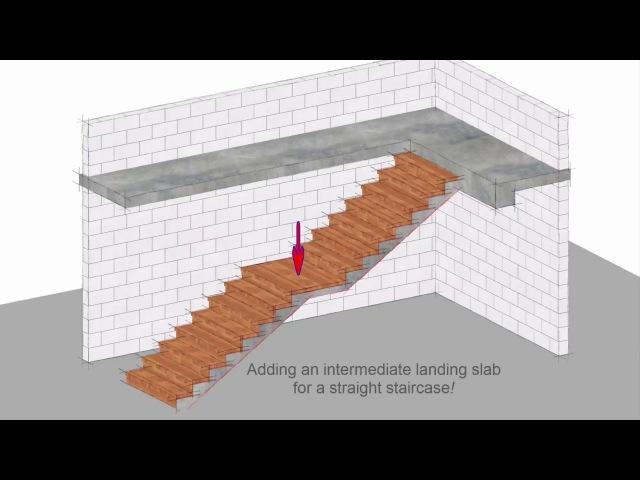 Allplan 2018: Adding a Landing to a staircase (1080HDp)