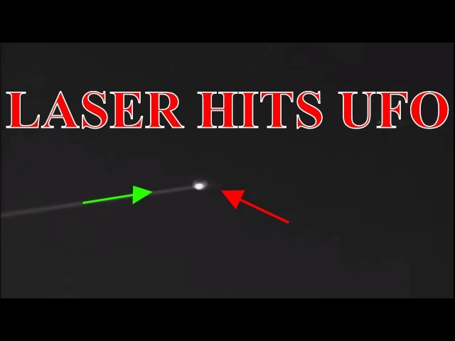 LASER REFLECTS OFF A UFO!/ LASER LIGHTS UP INVISIBLE UFO! 2/16/18
