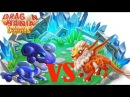 Hero Stardust dragon vs Lynx Dragon , attack the enchant dragon , Dragon Mania Legends - part 644