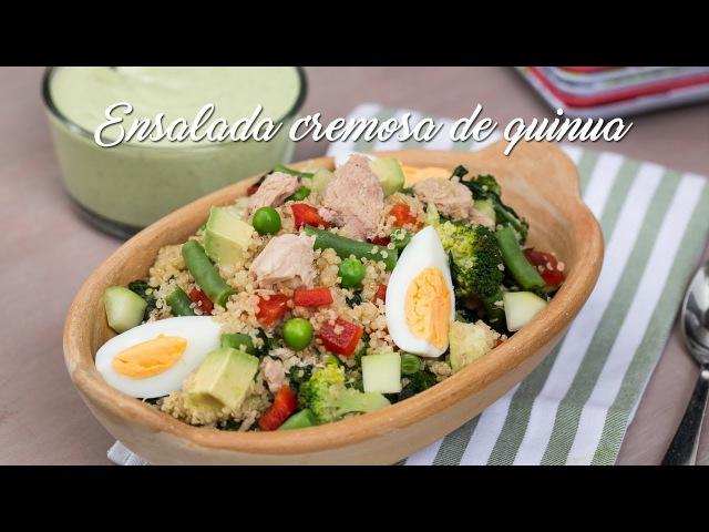 Ensalada Cremosa de Quinua | La Espátula Verde | Karen Lema