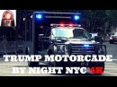 President Trump Motorcade in New York - Secret Service Suburbans and NYPD Police Cars - in Cinema 4K