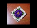 How to crochet Pinwheel Flower Granny Square (Floral Granny Square #2)