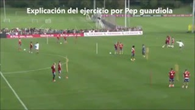Cómo Entrena Pep Guardiola los Desmarques de Apoyo
