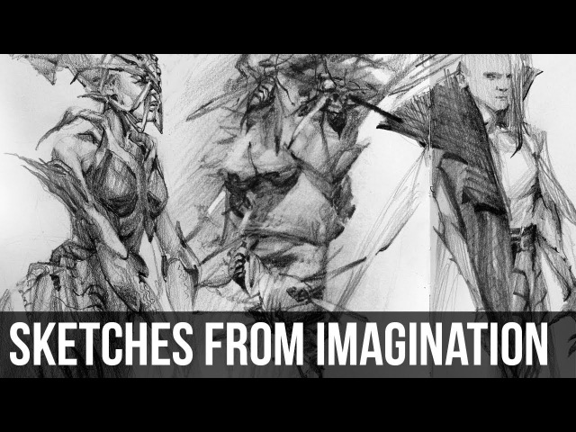 Sketching from Imagination   Pencil Timelapse Chat