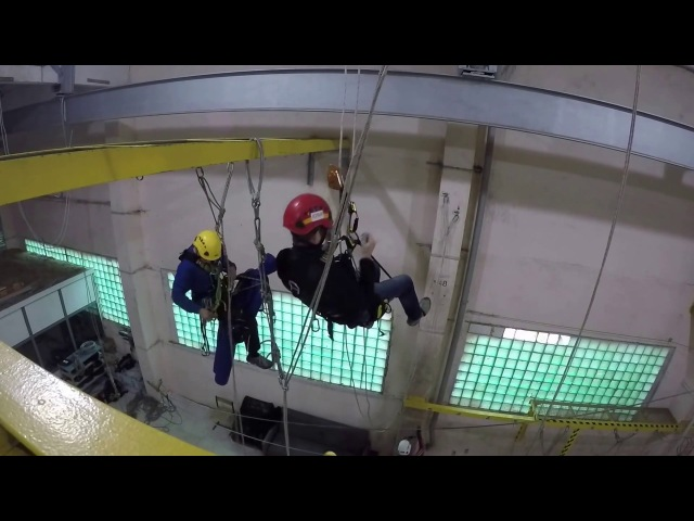 IRATA rope access training 2016! Курсы, техники веревочного доступа!