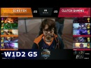 Echo Fox vs Clutch Gaming   Week 1 Day 2 of S8 NA LCS Spring 2018   FOX vs CG W1D2 G5