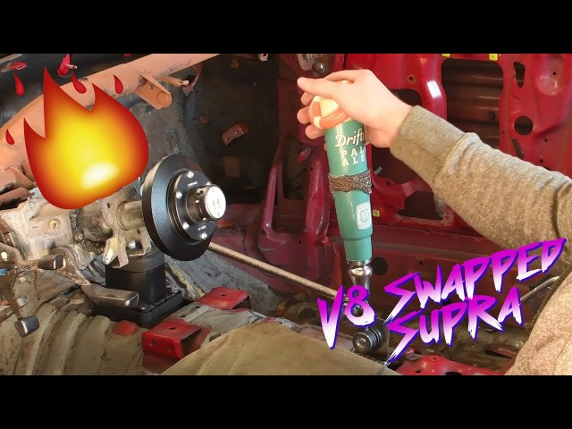 V8 SWAPPED SUPRA CUSTOM REMOTE SHIFTER AND SUBFRAME WORK