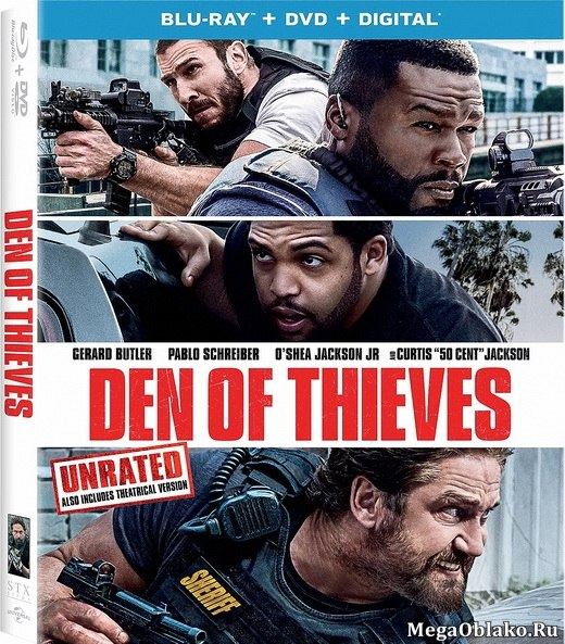 Охота на воров [Расширенная] / Den of Thieves [UNRATED] (2018/BDRip/HDRip)