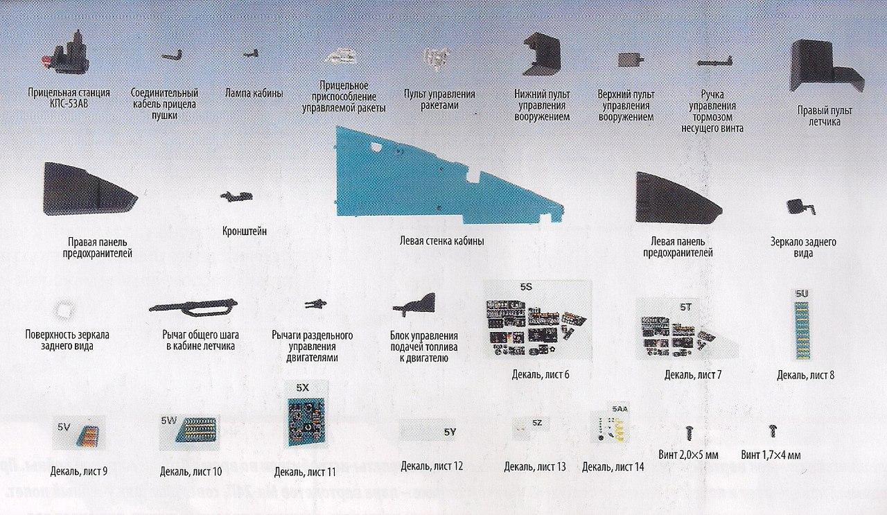 Вертолет МИ-24В - Комплектация выпусков