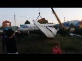 Привезли самолет як 40 в Уральск,район Хлебзавода