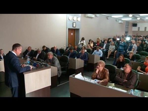 Глава Бийска Александр Студеникин отчитался за работу в 2017 году (18.04.18г., Бийское телевидение)