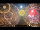 Китайцы поздравили россиян с Новым годом -съемка в Благовещенске с нашего берега.
