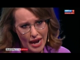 Жириновский довёл Собчак до слёз и истерики