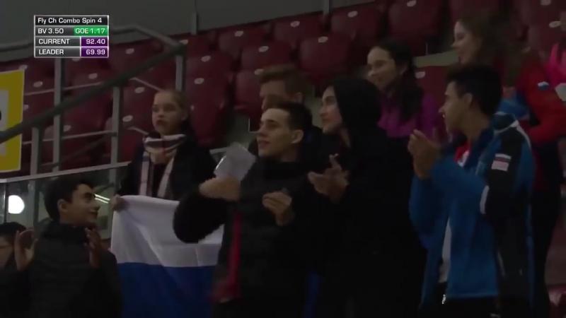 Александра Трусова Мировой рекорд Фигурное катание Два четверных прыжка_HD.mp4