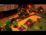 Тянет на мост - Как поезд LEGO DUPLO затягивает вагоны на мост