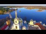 Нило-Столобенская пустынь с воздуха Nilo-Stolobenskaya Pustyn'