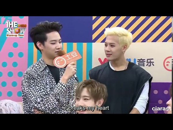 ENGSUB GOT7 The Show Warm Up Interview 161011 2