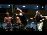 Ken 45, Ikuto Hidaka, Minoru Fujita vs. Kenbai, Kesen Numajiro, Rasse (Michinoku Pro - Space Great War 12 - 2017)
