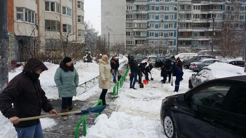Уборка снега. Автор фото: Ирина