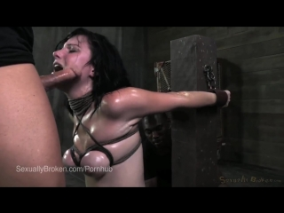 Brunette Slut Veruca James Facefucked While Riding the Sybian