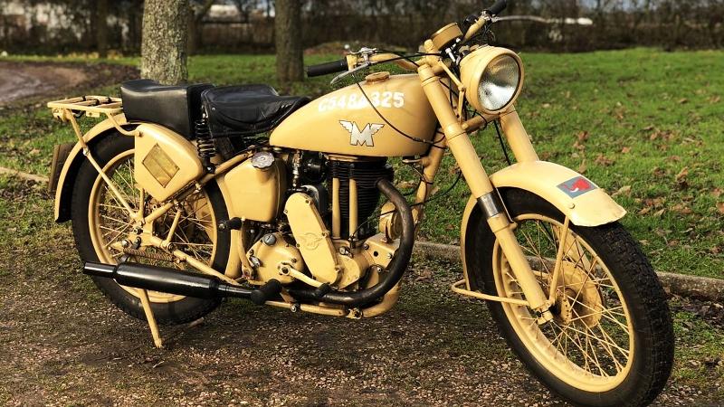 Мотоцикл Matchless Desert WW2 Military G3L, 1943 года