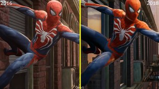 Marvel's Spider Man PS4 2016 vs 2018 Early Graphics Comparison