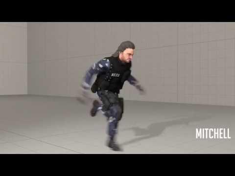 [SFM] very fast freeman hunter running at incredible hihg speed