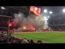 Фанаты Спартака пожарят на домашней трибуне.
