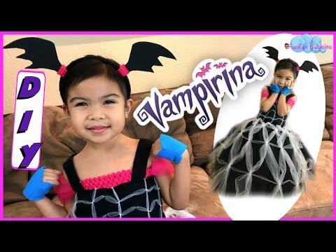 Vampirina costume for kids DIY tutu dress, how to make a custom costume cosplay