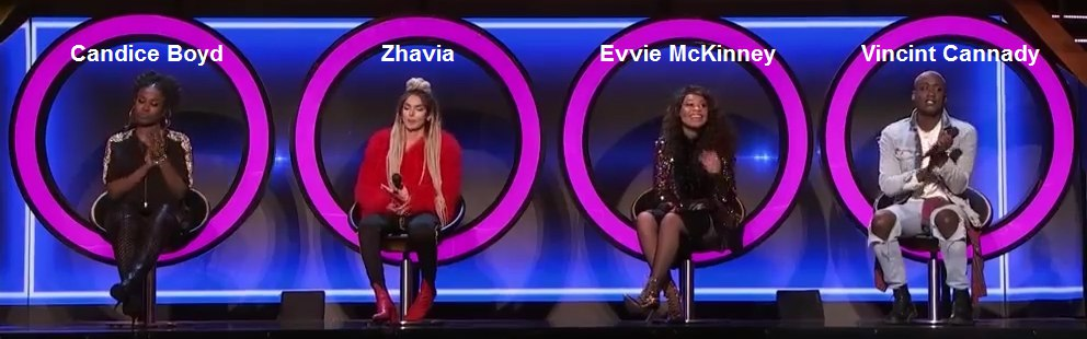 The Four Battle for Stardom Finalists Candice Boyd, Zhavia, Evvie McKinney, Vincint Cannady