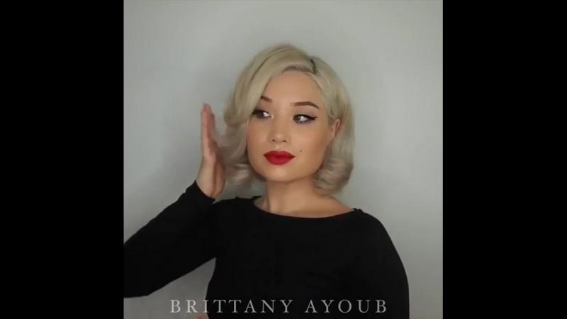 "B R I T T A N Y A Y O U B on Instagram: ""It's been a hot minute 🔥 Press Play ▶️ for a Vintage Glam DIY @brittanyayoub 💋 Mak"