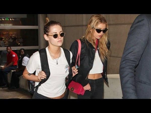 20 мая 2018: Стелла и Кристен Стюарт в аэропорту «LAX», Лос-Анджелес.