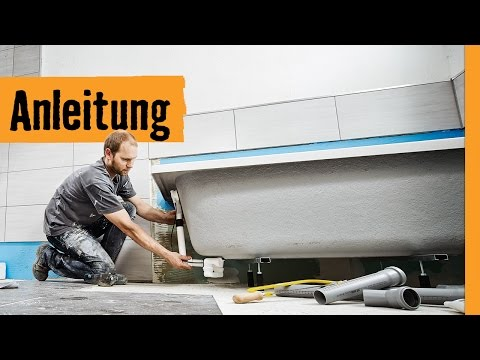 Badewanne einbauen auf Wannenfüßen | HORNBACH Meisterschmiede