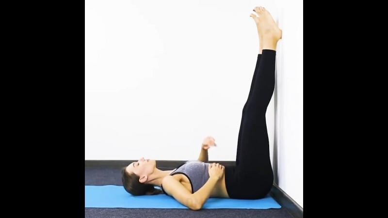 Комплекс упражнений возле стены