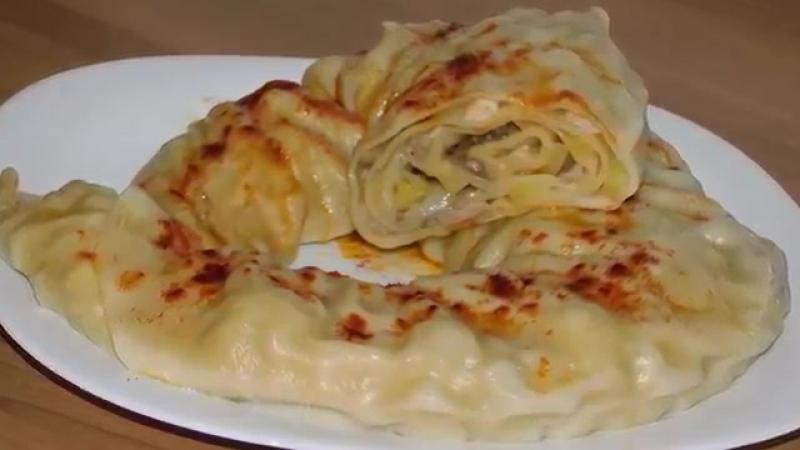 Ханум (паровой рулет) (узбекская кухня). Khanum (steam roll) (Uzbek cuisine)