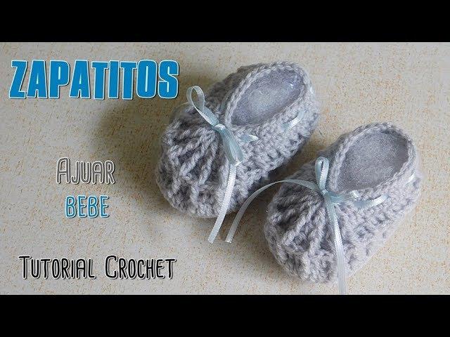 Como tejer un ajuar a crochet: zapatitos, escarpines a crochet