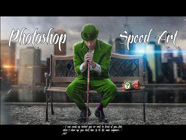 Photoshop Speed Art The Riddler