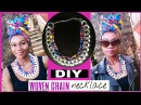 Simple EASY Woven Chain Necklace-AFRICAN Print Ankara!!